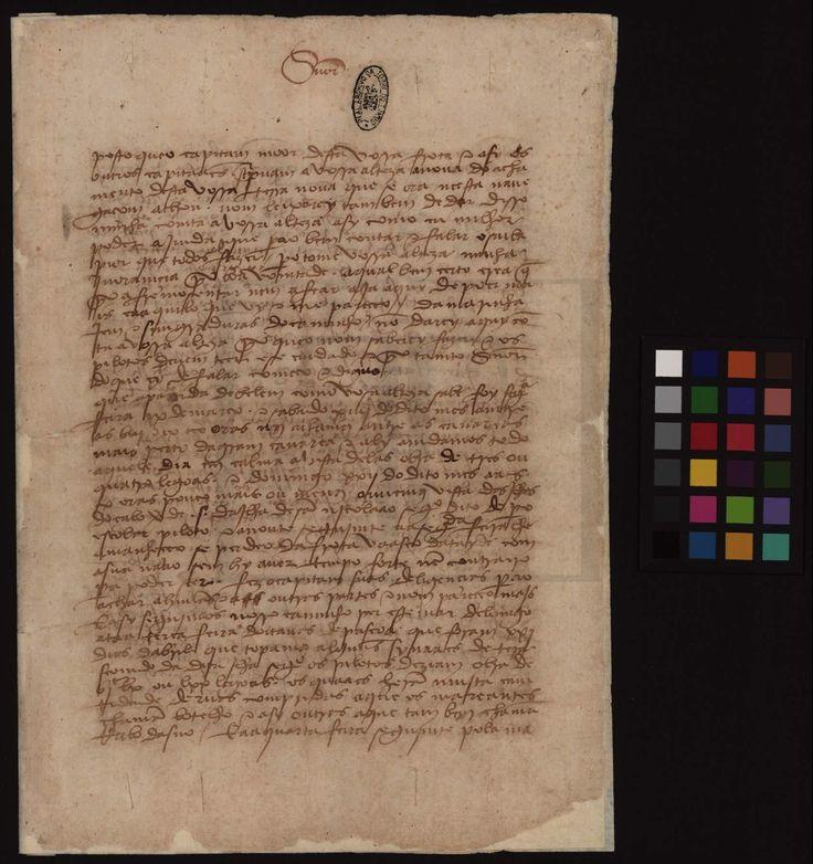PT-TT-GAV-8-2-8_m0001_derivada - Pêro Vaz de Caminha (1437-1500) - «[Carta de Pêro Vaz de Caminha a D. Manuel I]». Vera Cruz, 1 de Mayo de 1500. Manuscrito autógrafo. Cota: Arquivo Nacional da Torre do Tombo, Gavetas, Gav. 8, mç. 2, n.º 8