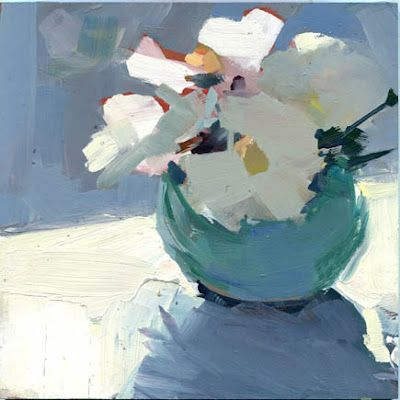 """Petal Plucking"" (2012), LISA DARIA, Acrylic on board, 6x6 in."