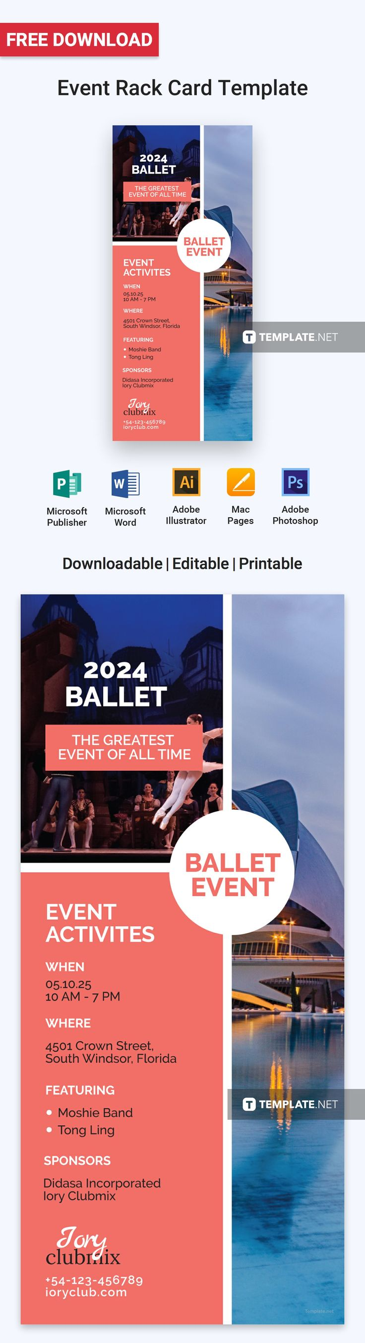 The Best Free Rack Card Templates Images On Pinterest - Free rack card template
