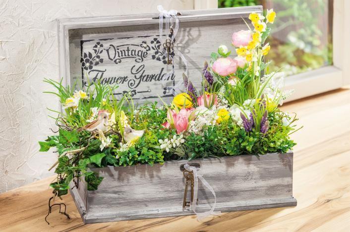 Jardinière en bois effet béton   Loisirs créatifs VBS Hobby