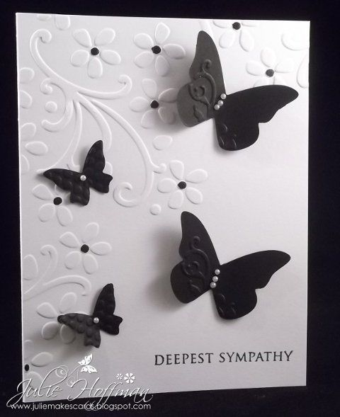 Deepest Sympathy, Black and White by CMU1999 - Cards and Paper Crafts at Splitcoaststampers