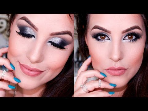 Maquiagem BAPHO: Gliter Prata para o Ano Novo - YouTube