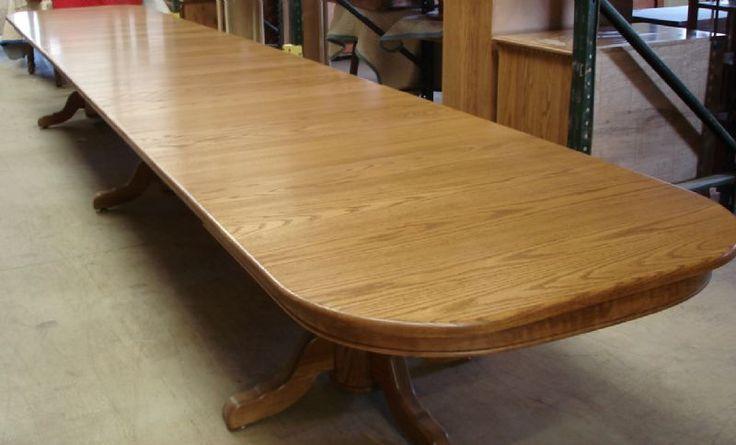Amish Triple Pedestal Dining Room Table