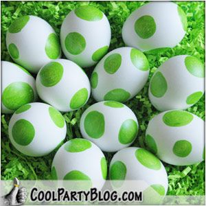 yoshi egg - this site has a party game, but I'd prefer using the eggs as decorations (in a bowl or make a garland from papier mache eggs?) or as edibles (boiled eggs or maybe molded white chocolate.)  Or maybe we could have an egg hunt. Or buy the extra large papier mache to use as favor boxes.