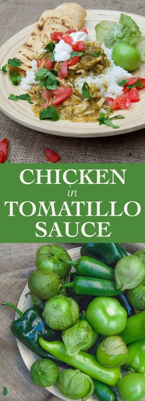 Chicken + Tomatillo Sauce - a Sloppy Chef