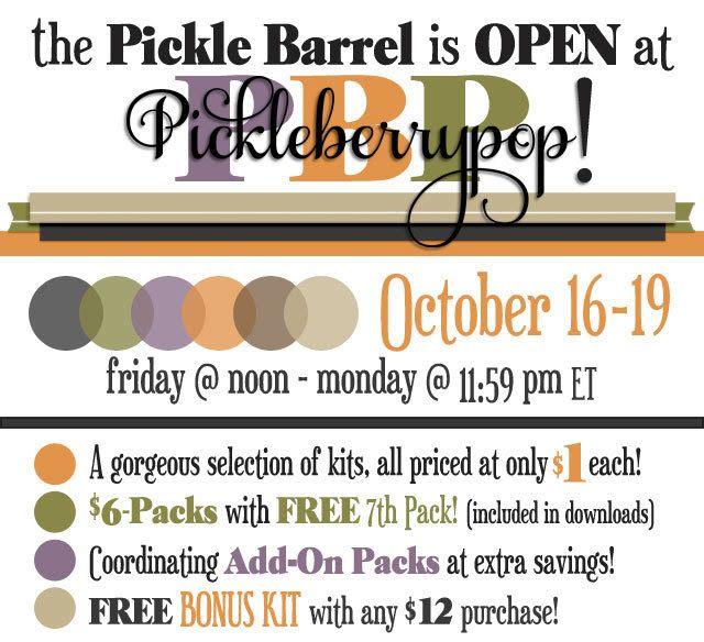 Lara´s Digi World - Digital Scrapbooking Designs: October Pickle Barrel is Open