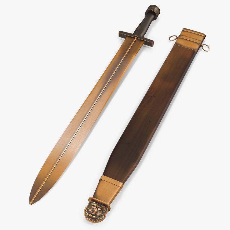 Greek Xiphos Sword Sheath 3D Model   3D Model