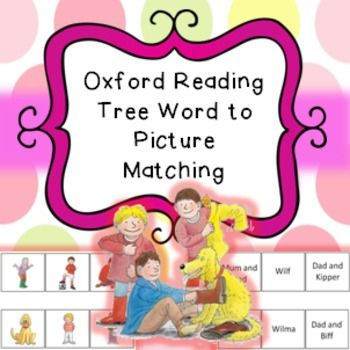 Word to picture matching, reading strategies, oxford reading tree topic, biff chip kipper floppy etc.