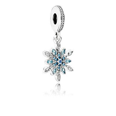This exquisite dangle design is inspired by the beauty of snowflakes and ice crystals. Equally as unique and graceful as its natural counterpart, the beautiful charm can be worn on bracelets and necklaces alike. #PANDORA #PANDORAcharm