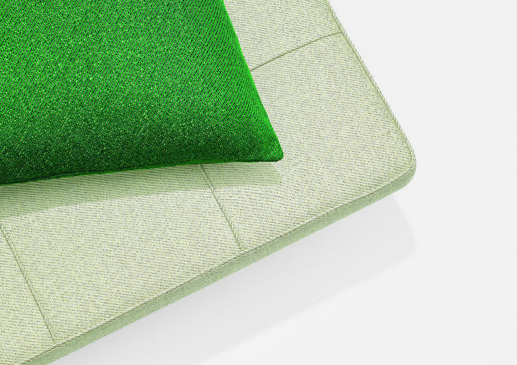 The PK80 daybed designed by Poul Kjærholm with Masai cushion from Kvadrat/Raf Simons 2015 collection.