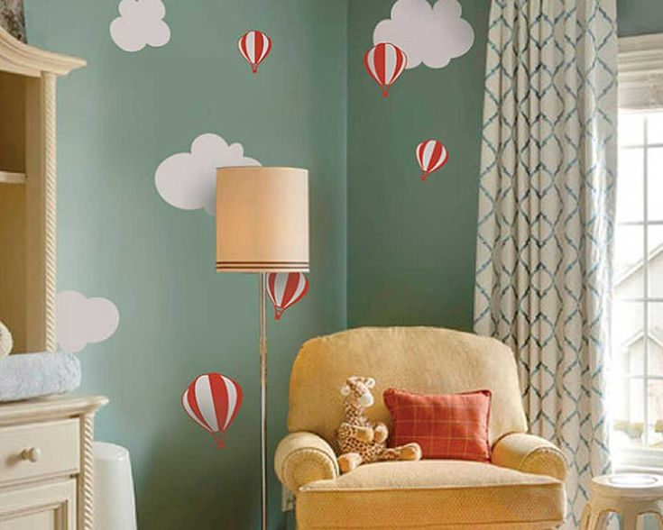 This wall decal is about some hot-air balloons flying over the sky. It is a kind of nursery wall decal in lovely cartoon style.You may apply this children wall decal in your nursery room to bring some fun, and your kids will definitely love it so much. SIZE & PRICE: Siz