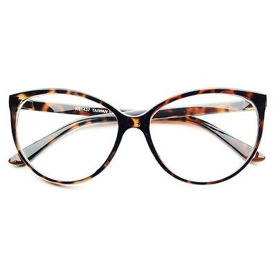 Large Clear Lens Retro Vintage Fashion CAT EYE EYE Glasses Frames Tortoise C222 | eBay