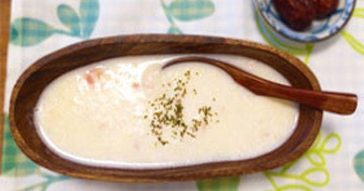 気と腎を補う山芋(長芋)、体内に潤いを与え便通を促す牛乳、抗酸化と肺に潤いを与えるオリーブオイル。ほっこりやさしい味☆