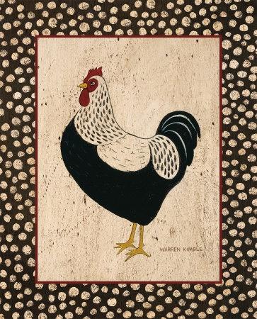 Whiteback Chicken Print by Warren Kimble