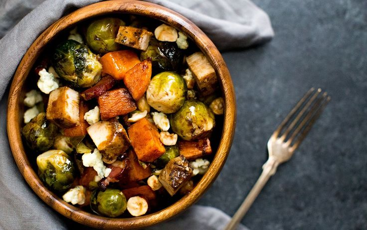 Balsamic Glazed Chicken & Roasted Veggie Bowl | Recipe