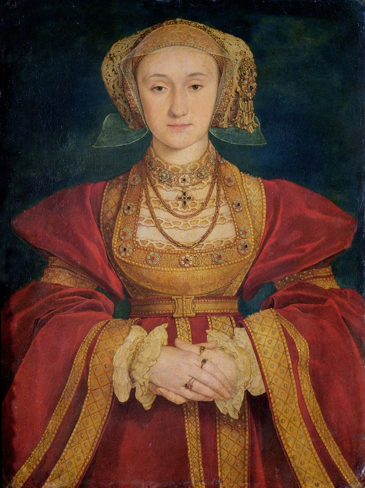4. Hans HOLBEIN Portrait of Anne of Cleves 1539 Silhouette of the Northern Renaissance with wide ruffed or puffed shoulders