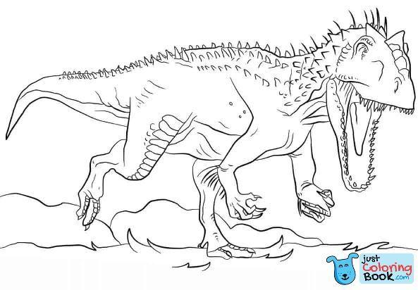 Indoraptor Coloring Pages For My Kid Dinosaur Coloring Dinosaur With Indoraptor Coloring Pages Printable For Free Ide Dekorasi Ide Blog