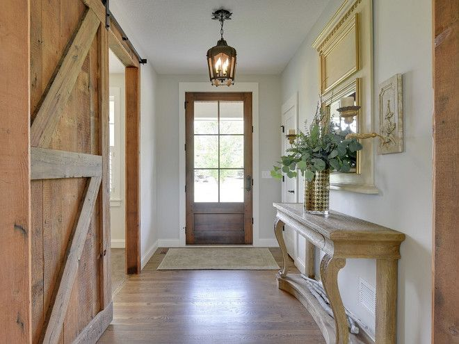 Walls are Benjamin Moore Gray Owl - looks pretty with natural wood tones