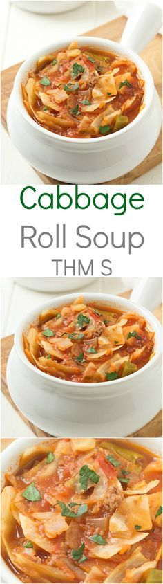 Unstuffed Cabbage Roll Soup: Incredibly easy and the flavor is out-of-this-world! A winter staple soup! Trim Healthy Mama Diet (S) Meal.