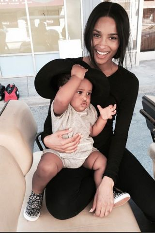These chic celebs are celebrating their first Mother's Day: Ciara.