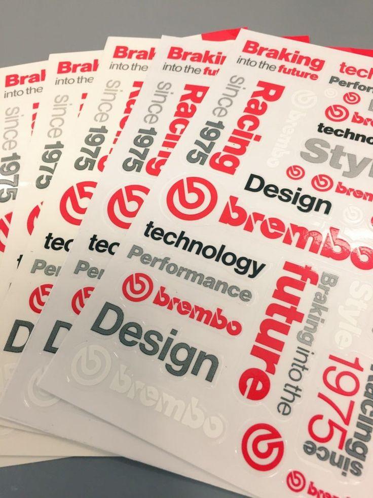 Visita #EICMA2016 Salone del ciclo e motociclo #Milano. Abbiamo realizzato gli adesivi per lo stand #Brembo! #Grafica e impaginazione del materiale promozionale per #EICMAMilano. #briefingmilano #comunicazione #stickers www.briefingmilano.it