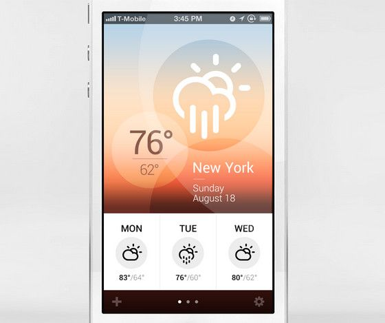 Glossy and Transparent Elements in Mobile App Interfaces