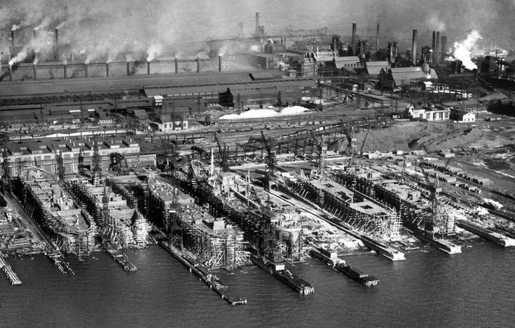 The Sparrows Point Shipbuilding division of the Bethlehem Steel Co. in 1940