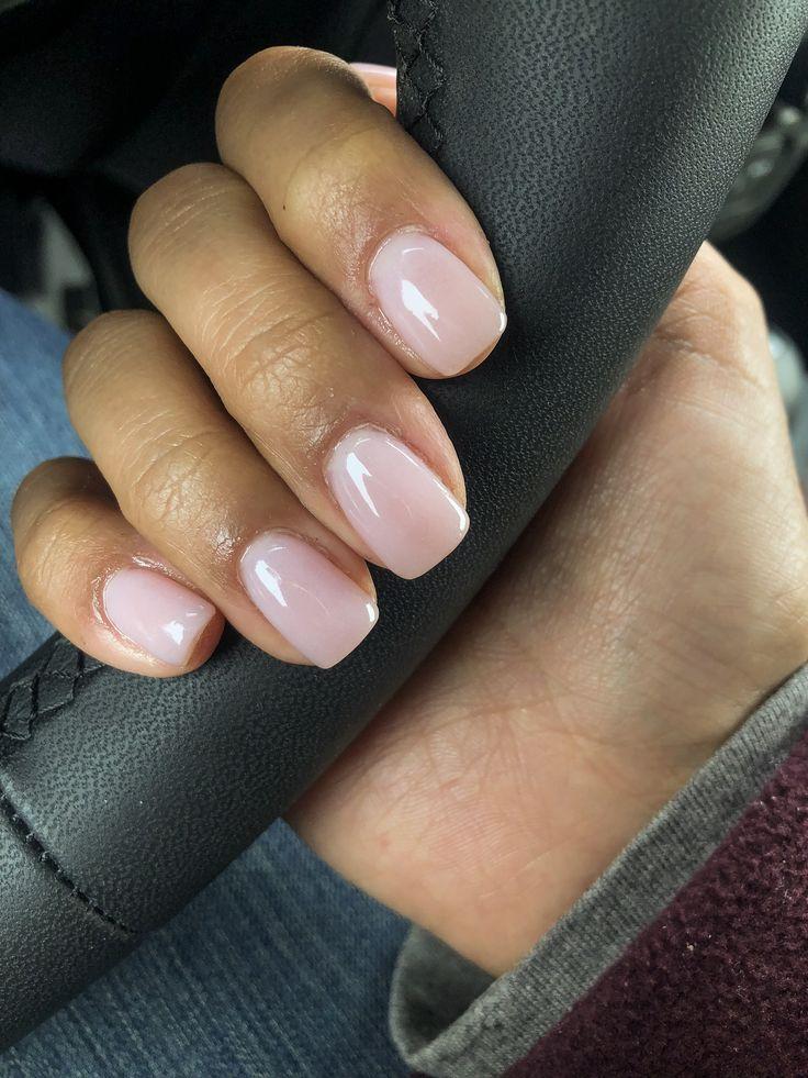 "SNS-Maniküre ""Make Me Blush"" #sns #manicure #nude – face painting & nails"