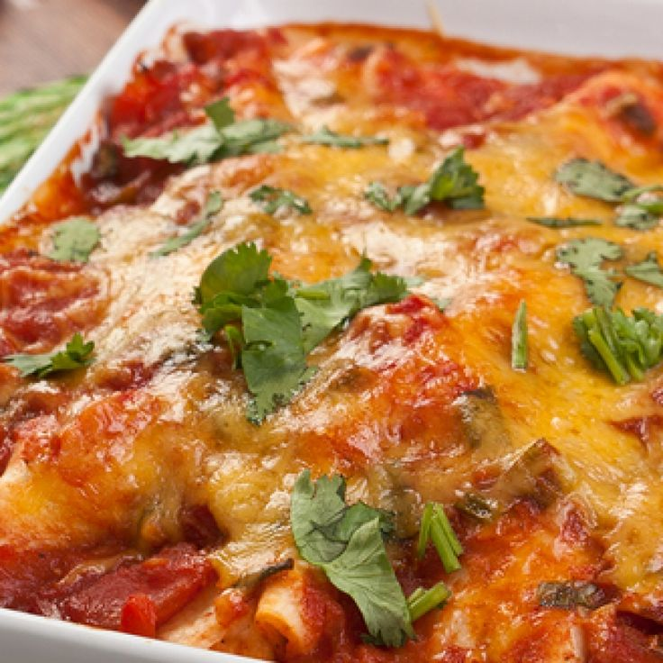 This mexican lasagna is made with lean ground turkey and ...