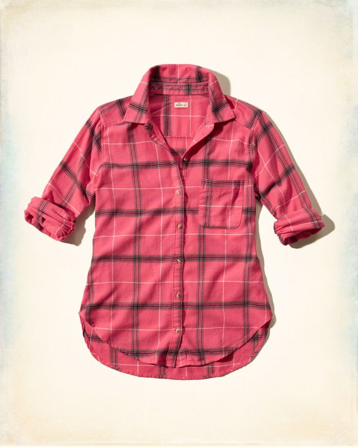 Chicas - Camisa escocesa de franela | Chicas - Looks So Cal | eu.HollisterCo.com