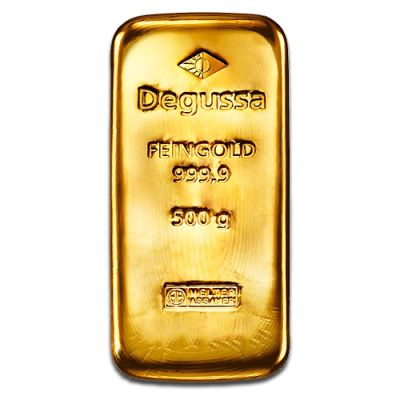 500g Gold Bullion | Gold Bar | Degussa | goldankauf-haeger.de