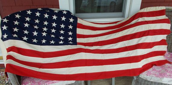 Vintage Betsy Ross Bunting Flag 48 Star Flag at by ancientofdaze, $149.00