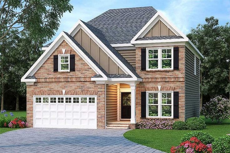 Narrow Lot Traditional Home Plan - 75408GB | 2nd Floor Master Suite, CAD Available, PDF, Traditional | Architectural Designs