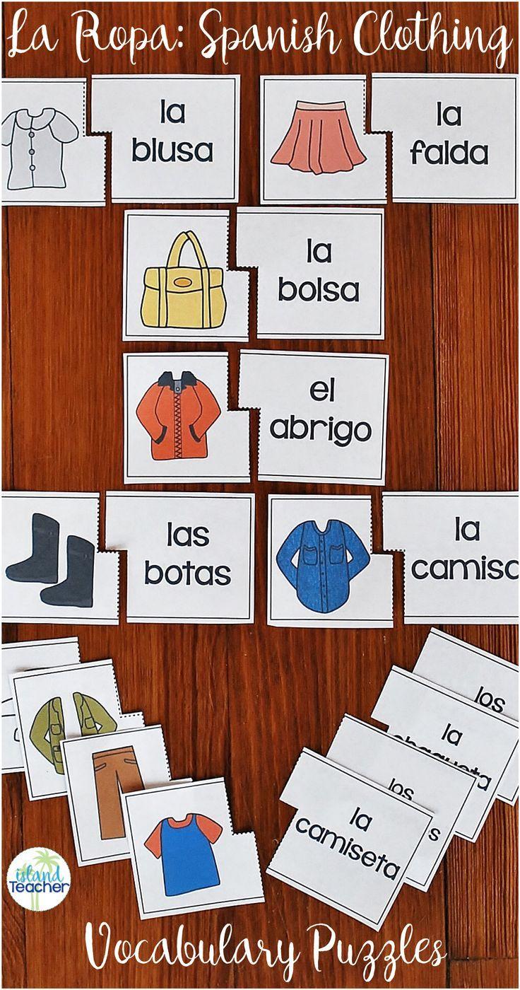 226 besten Teaching Spanish Vocabulary Bilder auf Pinterest | Lehrer ...