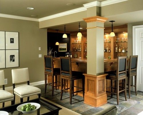 Living Room And Bar Design Adorable 86 Best Home Bar Images On Pinterest  Home Ideas Bar Counter And Design Decoration