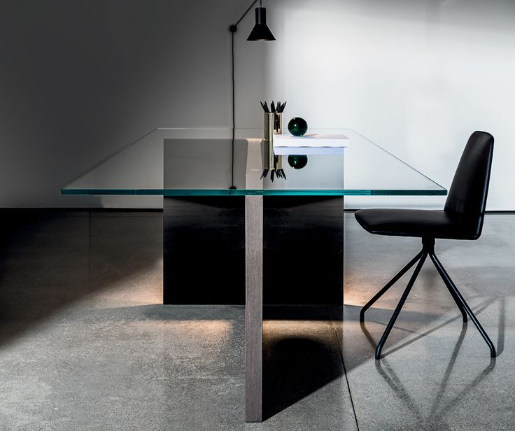 The beautiful Regolo #table with extra clear #glass top for #office spaces or #home #interiors #design #sovet
