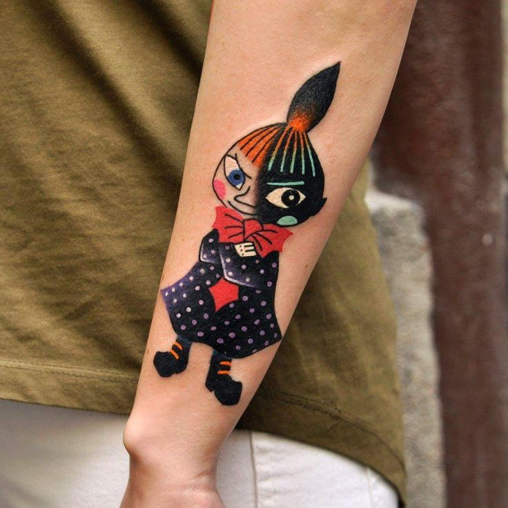 Little My Tattoo Marcin Aleksander Surowiec #małami #muminki #pikkumyy #moomin