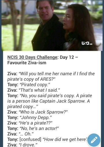 NCIS Ziva and Tony - Zivaism                                                                                                                                                      More