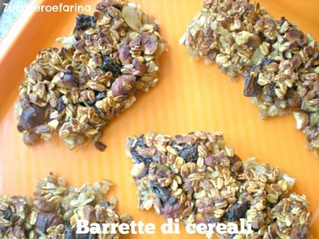 Barrette di cereali fatte in casa