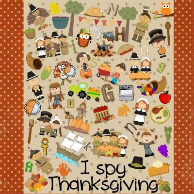 I Spy Thanksgiving from Celebrate Learning Designs on TeachersNotebook.com -  (5 pages)  - FREE I Spy Thanksgiving game that is GREAT for individuals or groups in the classroom!