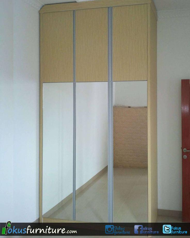 "45 Suka, 3 Komentar - Furniture custom minimalis (@fokusfurniture) di Instagram: ""Lemari pakaian minimalis full plafon di  perumahan Panorama serpong.  #Lemari #serpong…"""