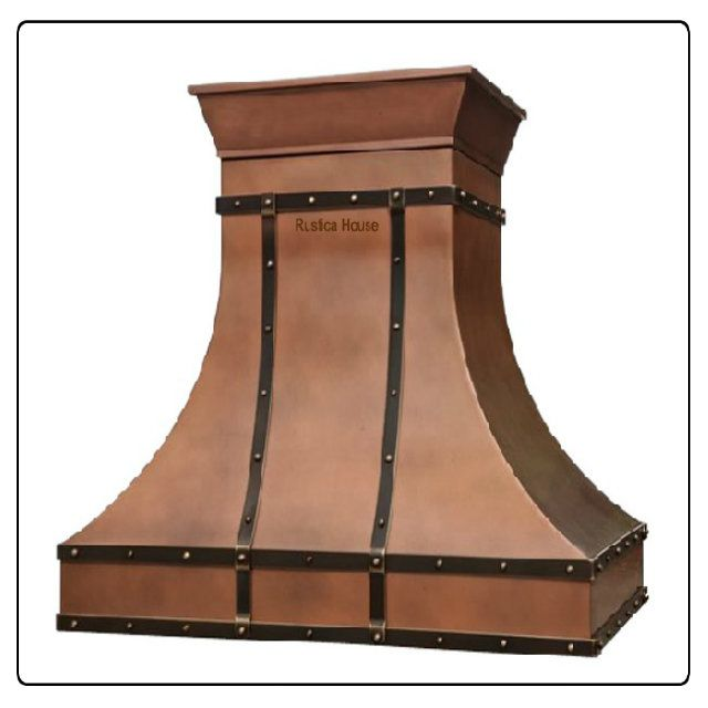 Decorative Range Hoods For Gas Stoves ~ Copper vent hood for a gas range by rustica house