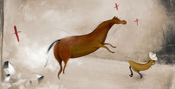 "Carolina Schütte illustration for ""Zona Afectada""."