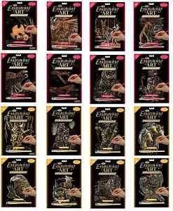 30 DESIGNS A4 GOLD & COPPER SCRAPER FOIL ENGRAVING ART KITS TOOL & INSTRUCTIONS