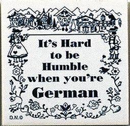German Culture Magnet Tile (Humble German)