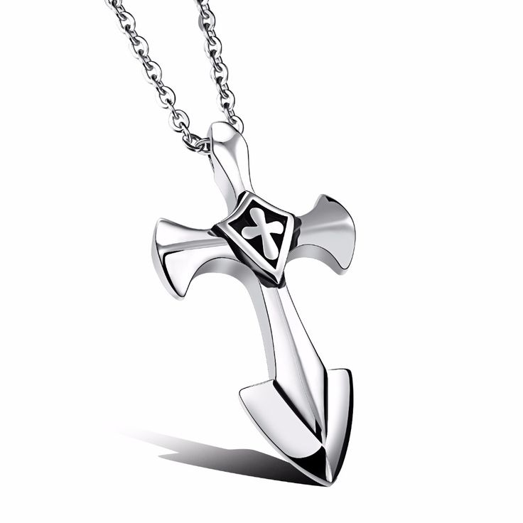 Classic mens cross necklace Stainless steel large iron toretto infinity cross necklace men Vin diesel cross pendant necklace