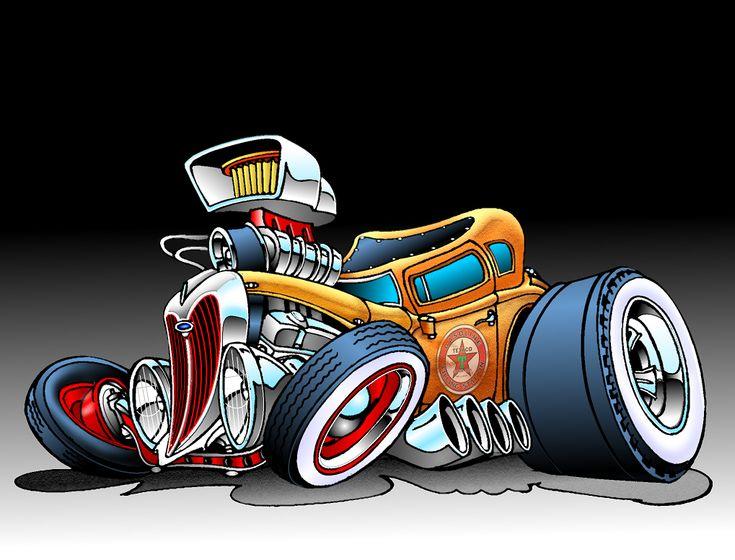 20 Cartoon Car Old School Tattoos Ideas And Designs