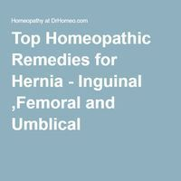 Top Homeopathic Remedies for Hernia - Inguinal ,Femoral and Umblical
