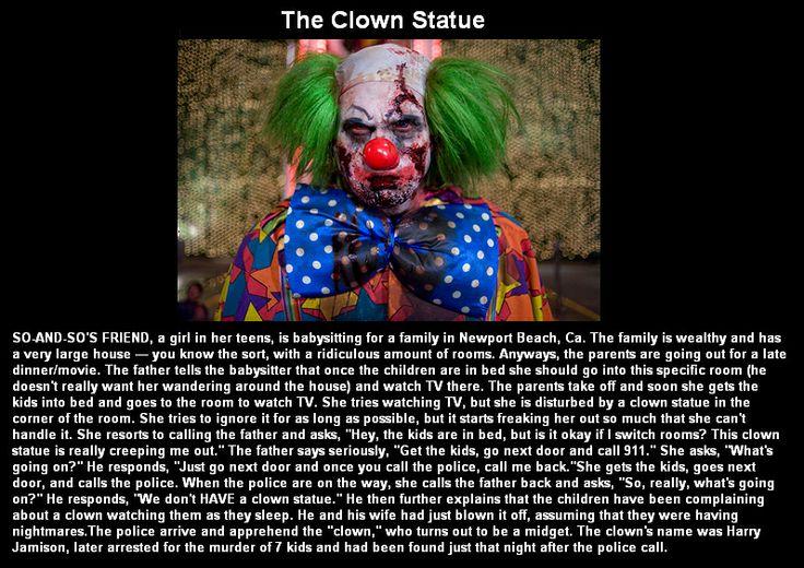Creepy clown story @Cindi-cookee Kannan I'm terrified of clowns but this makes it worse...