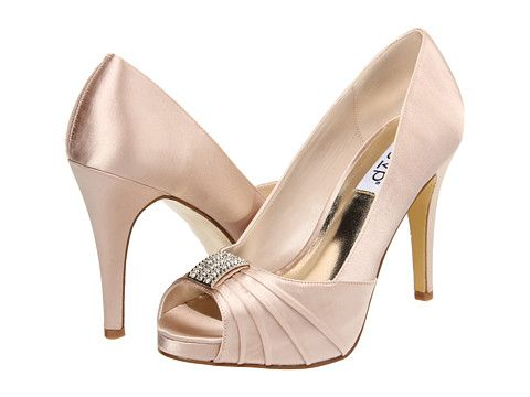 Champagne Colored Shoes For Bridesmaids With Eggplant Dresses?? RSVP Samira